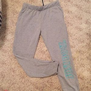 Nike joggers with zip at bottoms